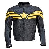 Stormwise - Chamarra de Piel para Hombre, Split Leather Black, Medium - For Chest 40-42'