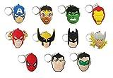 11piezas, superhéroes Llaveros recuerdos de fiesta para niños fiesta temática superhéroes...