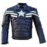 Stormwise Chamarra de Piel para Hombre, diseño de capitán de Motociclista, Split Leather Black,...