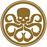 Yoonek Graphics Hydra Inspired Marvel Agents of Shield - calcomanía Decorativo para Ventana,...