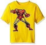 Marvel - Playera de Manga Corta para niño, diseño de Iron Man, Amarillo, 2 Años