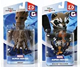Disney INFINITY Marvel Super Heros (2.0 Edition) - Groot and Rocket Raccoon Figures from Guardians...