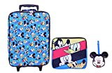 Disney Mickey - Juego de equipaje (3 piezas), Azul, Una talla