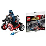 LEGO Marvel Captain America Civil War Captain Americas Motorcycle Mini Set #30447 [Bagged] by Marvel