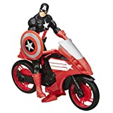 Marvel Avengers Titan Hero Series Captain America 12 Inch Figure with Defender Cycle Vehicle
