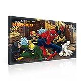 Lona Listo para Colgar, diseño de Spiderman de Marvel, Color Blanco, con Texto'Tiger Luke Cage',...