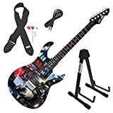 Peavey Rockmaster Marvel Iron Man 3 War Machine Full Electric Guitar & Stand