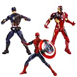 Marvel 6-Inch Legends Captain America: Civil War Action Figure 3 Pack (Spider-Man, Captain America,...