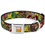 Buckle Down-Down Marvel Comics Thor & Loki Poses/Retro Comic Books Stacked Dog Collar, Thor & Loki...