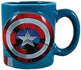 Vandor 26601Marvel Capitán América sopa de cerámica en forma taza de café, 20oz, multicolor