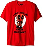 Marvel Deadpool I Don't Feel Like Being an Adult Today - Playera para Hombre, Rojo, Medium