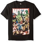 Marvel - Playera de Manga Corta para niño, diseño de superhéroes, Avengers, L