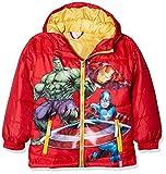 Avengers Marvel Capitán América Hulk Iron Man Kids Puffer Parka Chamarra, Rojo, 10 Años
