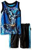 DC Comics Batman Dazzle - Juego de 2 Camisetas y Pantalones Cortos para niño, Azul, 6