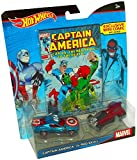 Hot Wheels Marvel Captain America vs. Red Skull Character Car with Comic by Hot Wheels