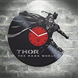 Thor The Dark World kovides vinilo Reloj de pared decoración del hogar, decoración salón, kidroom...