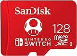 Tarjeta SanDisk microSDXC UHS-I para Nintendo Switch 128GB, Producto con Licencia de Nintendo