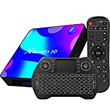 Android TV Box 10, 4GB RAM 32GB ROM Android 10 Compatible con 4K 3D, RK3318 Dual-WiFi 2.4g / 5g...