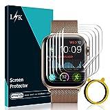 LK 6 Pack Protector de Pantalla para Apple Watch 44mm Series 6 5 4 SE - HD Pelcula de TPU Flexible...