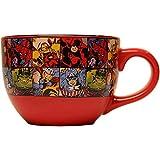 Marvel Silver Buffalo MV9124 Marvel Comics Grid Ceramic Soup Mug, 24 oz, Multicolor