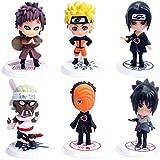 Cake Topper - YUESEN 6pcs Naruto Mini Juego de Figuras Nios Mini Juguetes Baby Shower Fiesta de...