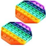 FOHYLOY Push Pop Bubble Sensor Fidget Toy, Alivio del estrs Necesidades Especiales Aula silenciosa...