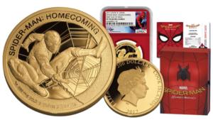 Marvel Spiderman Hombre Arana Homecoming Marvel Mercanti Stan Lee 1 Oz Moneda Oro 200$