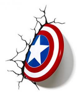 Lámpara Marvel Escudo del Capitán América 3D