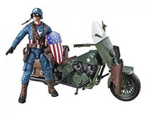 Marvel Figura Capitán América con Moto