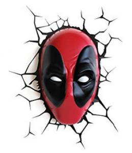Marvel Lámpara 3D Máscara Deadpool