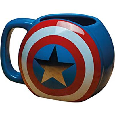 Taza escudo del Capitán América