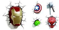 Lamparas de superheroes