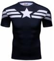 Camiseta de compresión del Capitán América Cody Lundin Talla XL